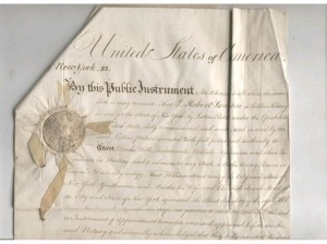 Robert Swanton 1809 appointment as notary copy
