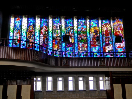 Stained Glass Wall in All Saints Church, Drimoleague