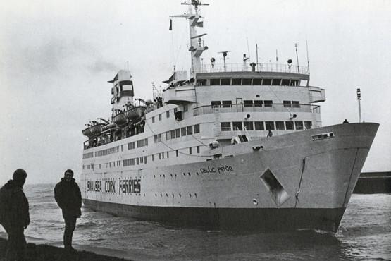 The Swansea-Cork ferry, the Celtic Pride1980s