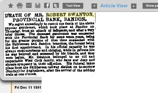 Robert Swanton 1891 obituary Banbdon Skibbereen Aughadown.jpg